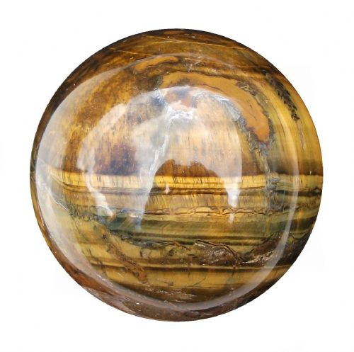 Tiger Eye Fortune Telling Crystal Ball Gemstone Sphere for Meditation 65mm 400g (TE14)